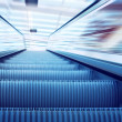Moving escalator on the railway station — Stock Photo #6359079