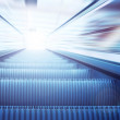 Moving escalator on the railway station — Stock Photo #6359081