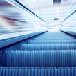 Moving escalator on the railway station — Stock Photo #6359083