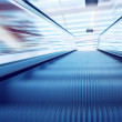 Moving escalator on the railway station — Stock Photo #6359084