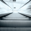 Moving escalator on the railway station — Stock Photo #6359086