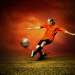 Football player on the outdoors field — Stock Photo #6359118