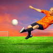 Football player on the outdoors field — Stock Photo #6359125