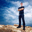 Man on the top of mountain. — Stock Photo #6359485