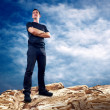 Man on the top of mountain. — Stock Photo #6359486