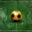 Foto Stock: Grunge football field texture