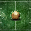 Grunge football field texture — Stockfoto