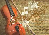 Fondo grunge retro musical — Foto de Stock