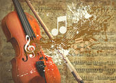 Retro musical grunge background — Stock Photo
