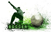 Grunge Soccer Ball background — Stock Photo
