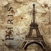 Vintage uitzicht over parijs op de grunge achtergrond — Stockfoto
