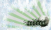 Grunge Soccer background — Stock Photo