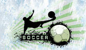 Grunge Soccer background — Stock Photo