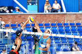 PRAGUE - JUNE 19: Rogers & Dalhausser team compete at SWATCH FIV — Zdjęcie stockowe