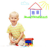 Happiness young smiles boy — Stock Photo