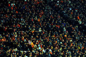 DONETSK, UKRAINE - FEB 25: supporters watch the match UEFA Europ — Стоковое фото