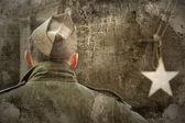 Nos soldado do exército — Foto Stock