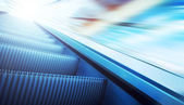 Moving escalator on the railway station — Stock Photo