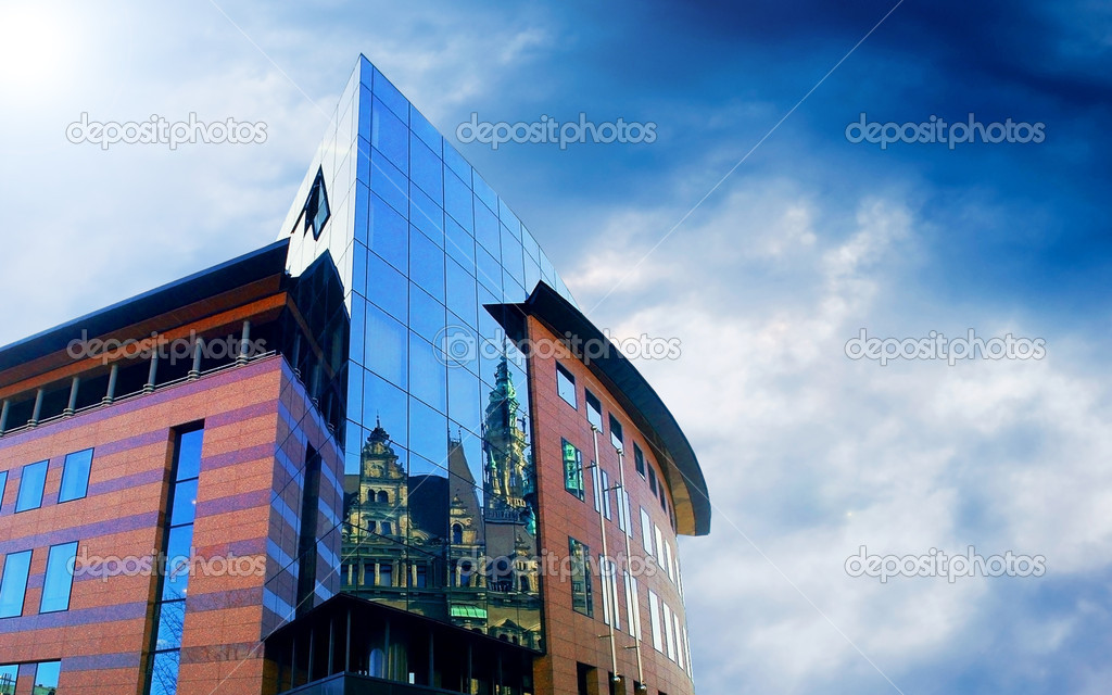 Business buildings architecture on sky background — Stock Photo #6354497