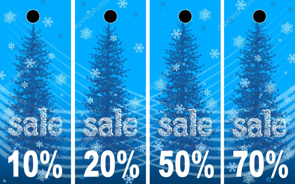 Sale abstract winter background  Stock Photo #6356984