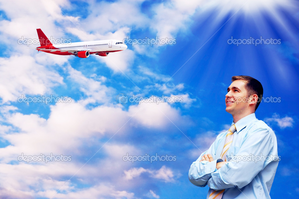 Businessman at an airport — Stock Photo #6357590