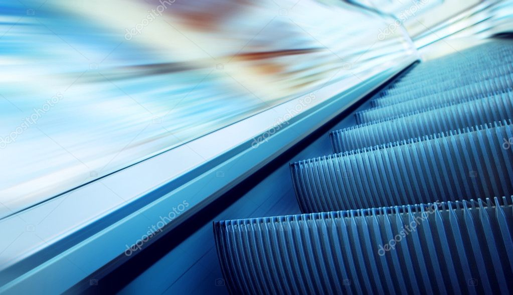 Moving escalator on the railway station — Stock Photo #6359070