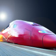 High-speed train with motion blur outdoor — Stock Photo #6360108