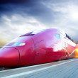 High-speed train with motion blur outdoor — Stock Photo #6360116