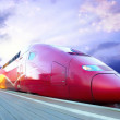 High-speed train with motion blur outdoor — Stockfoto #6360118