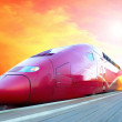 Royalty-Free Stock Photo: High-speed train with motion blur outdoor