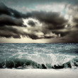 View of storm seascape — Photo