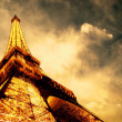 Stock fotografie: PARIS - JUNE 22 : Illuminated Eiffel tower at night sky June 22,