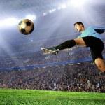 Football player on field of stadium — Stock Photo #6370732