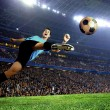 Foto Stock: Football player on field of stadium