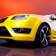 Beautiful yellow sport car — Stock Photo