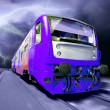 Train on speed outdoor - Stock Photo