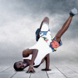 Young man dancer in new stay pose — Stock Photo #6371446