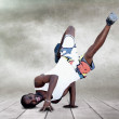 Young man dancer in new stay pose — Stock Photo #6371447