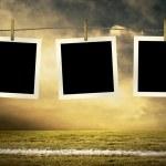 photocards piłkarzy na zewnątrz pola — Zdjęcie stockowe