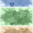 Set of grunge textures on the abstract background — Stock Photo