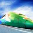 High-speed train with motion blur outdoor — Stock Photo #6371967