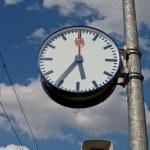 reloj de la estación — Foto de Stock
