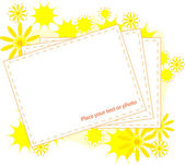 Photo Frame with yellow flowers — Stock Vector