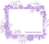Frame with lilac flowers — Stock Vector