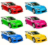 Colorful cars — Stock Photo