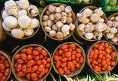 Mushrooms and Tomatoes — Stock Photo