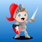 Boy Knight — Stock Vector #6216038