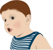 Surprised child — Stock Vector