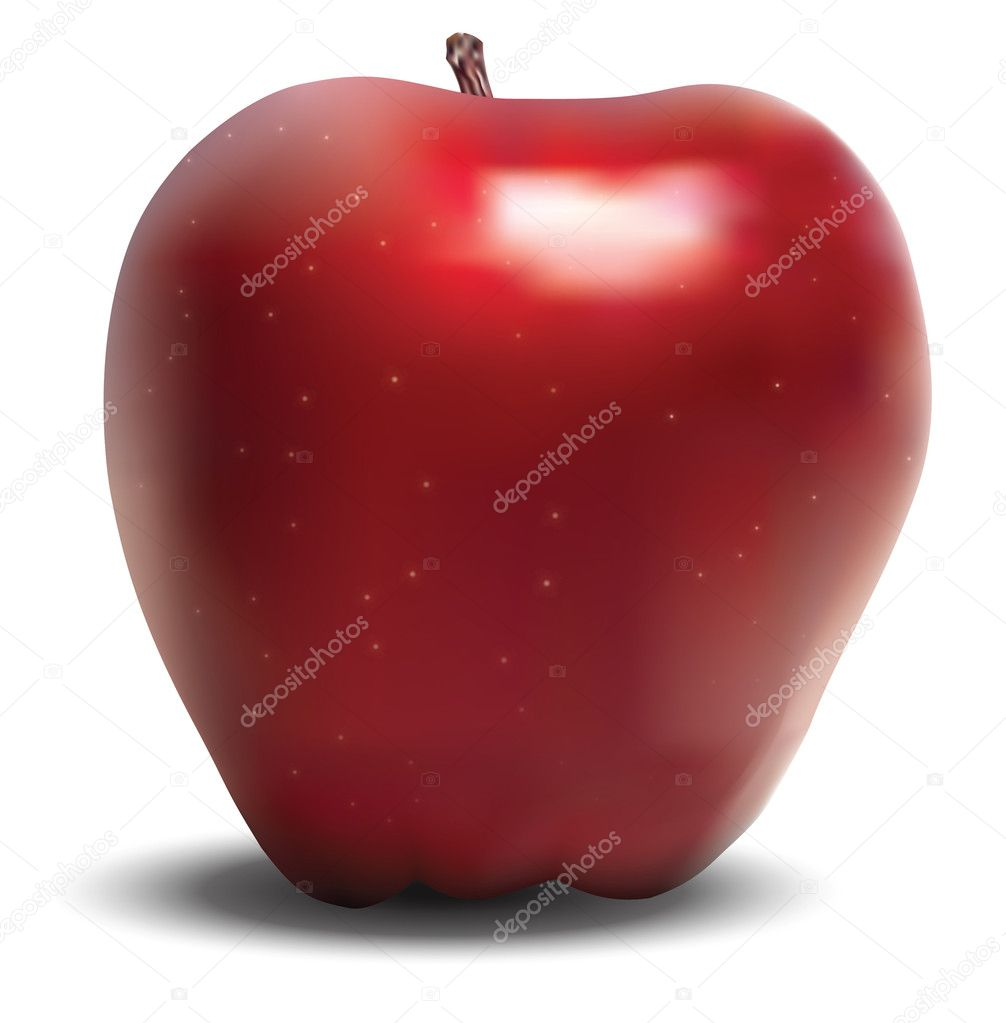 Vectoral red apple — Stock Vector #6215298