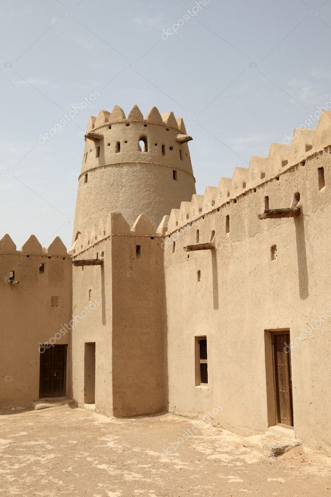 Al jahili fort in al ain abu dhabi stock photo for Al manzool decoration abu dhabi